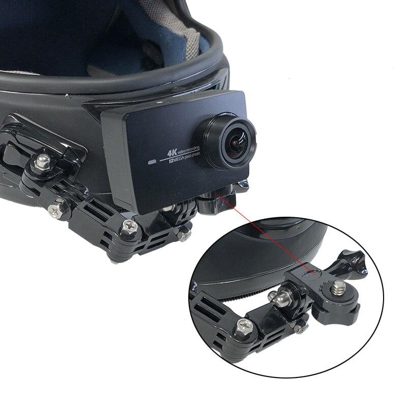 Aliexpress.com  Acheter Moto Casque Intégral Avant Side Menton Montage pour  Xiaomi YI 4 k GoPro Hero 7 6 5 4 3 + SJCAM Sj4000 EKEN H9 POV Camera Action  de ... befe5fa0f4de