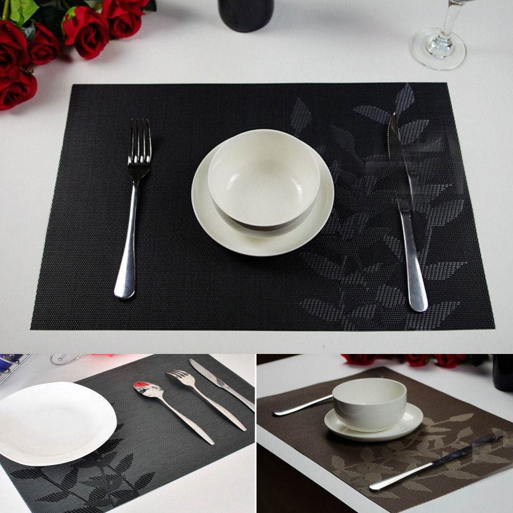 Gloss Black, Round Displaypro Rectangle /& Round Acrylic Place Mats Kitchen Breakfast Bar Dining Table