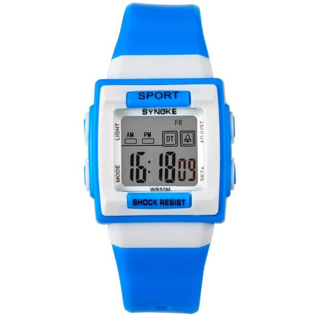 blue shope #3001 SYNOKE Watches Kid Children Boy Girl Motion Digital Watch