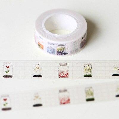 Glass Bottle Washi Tape DIY Decoration Scrapbooking Planner Masking Tape Adhesive Tape Kawaii Stationery
