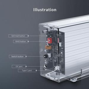 Image 5 - オリコデュアル3.5 USB C hddケースとraid機能10gbpsのsataにタイプc透明hddドックステーションuasp 24テラバイトhddエンクロージャ