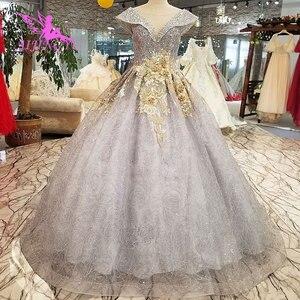 Image 4 - AIJINGYU הטוב ביותר שמלות כלה ארוך לבן עם מחוך אוקראינה גליטר Weddingss סאטן שמלות נסיכת כלה שמלה