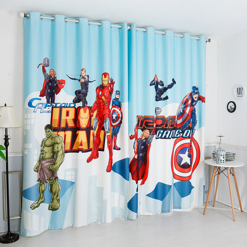 Hot Promo 94cbf Gyc2366 Captain America Shield Curtains Super Hero Curtain For Boys Bedroom Living Room Cartoon Drapes Cicig Co