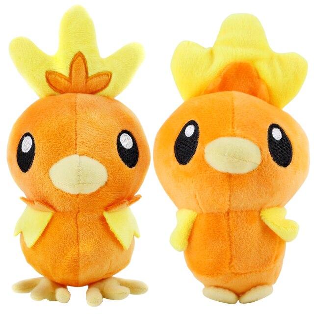 15 cm 20 cm Anime Torchic felpa juguete naranja pollo suave peluche muñecas regalo para niños