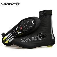 Santic Cycling Shoe Cover Men Waterproof Rainproof Overshoe Bicycle Gaiter Rain Shoe Covers Hiking MTB Bike Sport Shoe Protector
