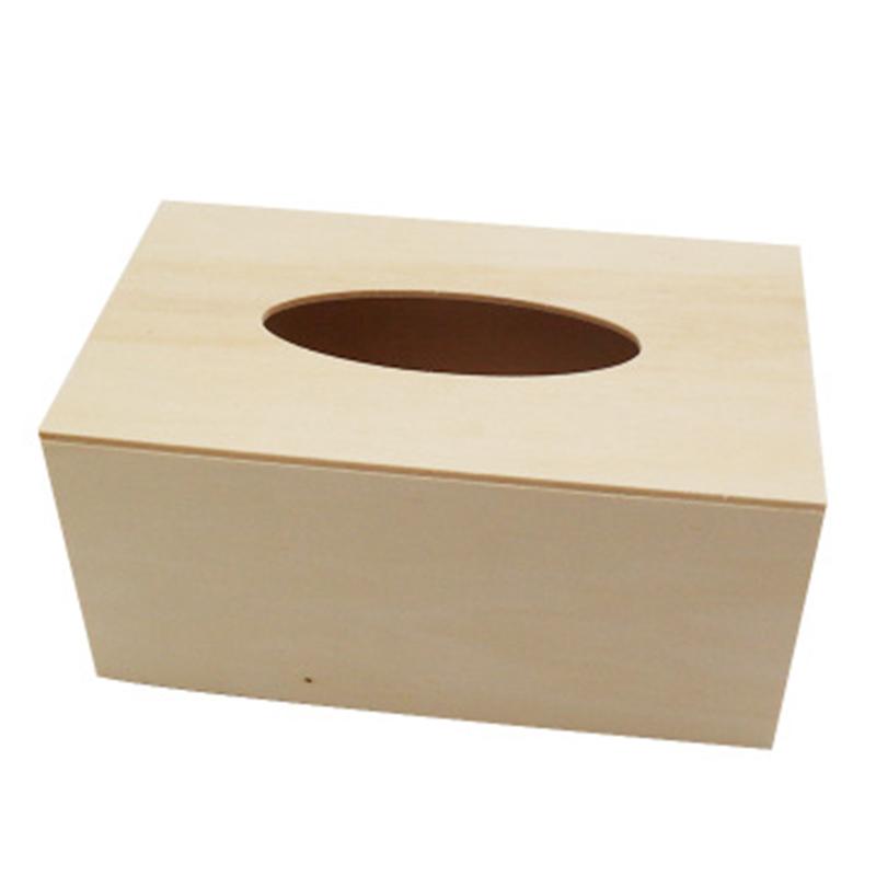 1pc Wooden Solid Tissue Box Kid Diy Craft Napkin Holder Case Household Hotel Restaurant Facial Tissue Boxes