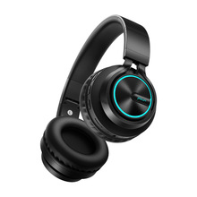 Auriculares inalámbricos B6 con Bluetooth, 12 horas de autonomía, luz colorida, soporte para tarjeta TF, teléfono móvil, PC y TV