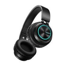 B6 casque sans fil Bluetooth casque 12 heures de travail écouteur coloré lumière Support TF carte pour téléphone portable PC TV