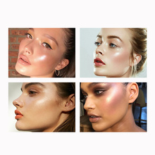 FOCALLURE Glitter Highlighter Powder Face Makeup Natural Illuminator Palette Professional Pressed Cosmetics