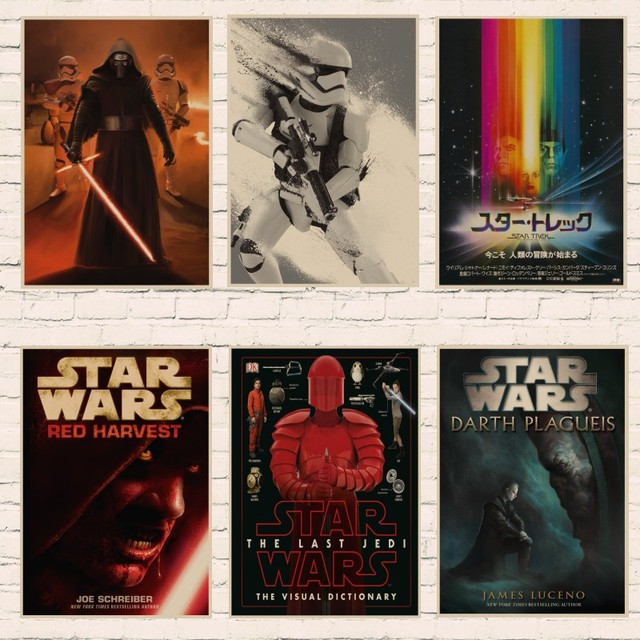 new star wars poster episode vii the force awakens poster red