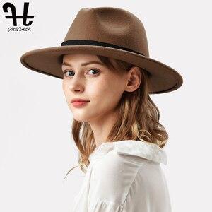 Image 3 - FURTALK النساء الرجال فيدورا قبعة 100% الاسترالي الصوف قبعة صغيرة فيدورا من اللباد واسعة حافة خمر الجاز قبعة فاتحة فام الخريف الشتاء قبعة