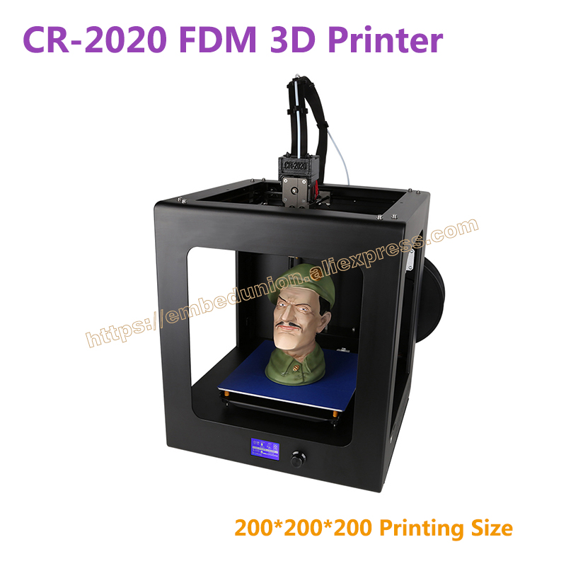 RQ-CR-2020 3D Printer printing size 200*200*200mm desktop 3D printer Kit filament with heated bed+200g Printing material ship from european warehouse flsun3d 3d printer auto leveling i3 3d printer kit heated bed two rolls filament sd card gift