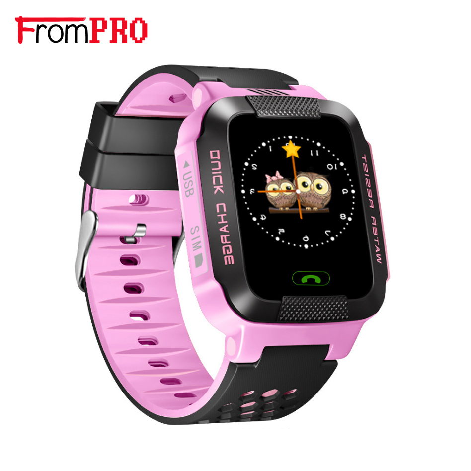 FROM Smart Phone Watch <font><b>GPS</b></font> Children Kid Wristwatch Y21 GSM GPRS Locator <font><b>Tracker</b></font> Anti-Lost Smartwatch Child Guard for iOS Android