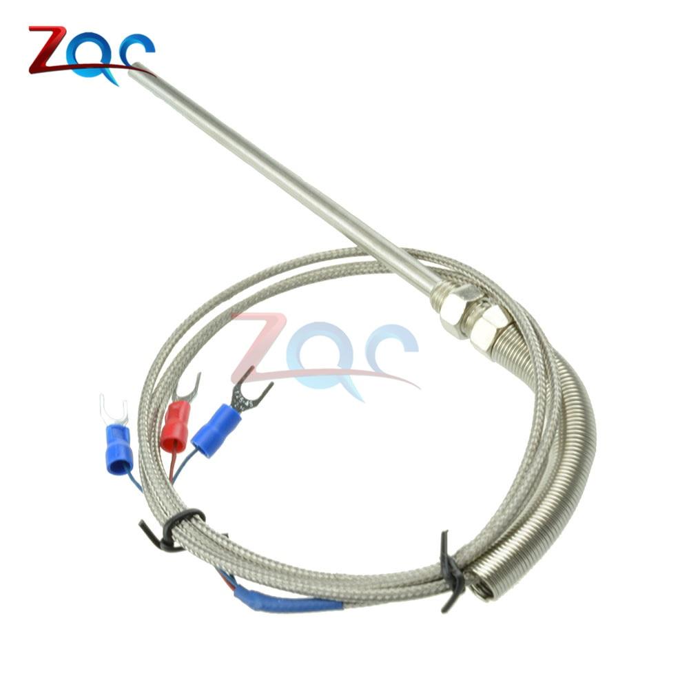 Stainless Steel Shield 10cm Probe Tube RTD PT100 Temperature Sensor ...