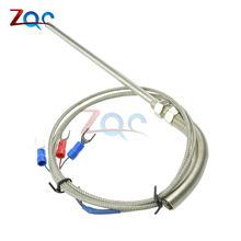 Stainless Steel Shield 10cm Probe Tube RTD PT100 Temperature Sensor with 3 Cable Wires for Temperature Controller(China)