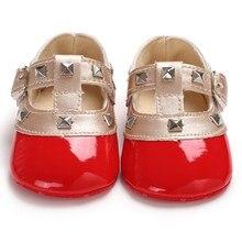 Анти-слип для новорожденного для маленьких девочек Bling кроватки туфли для младенцев бант, мягкая подошва милой принцессы кожаные туфли для маленьких девочек s 0-18 м