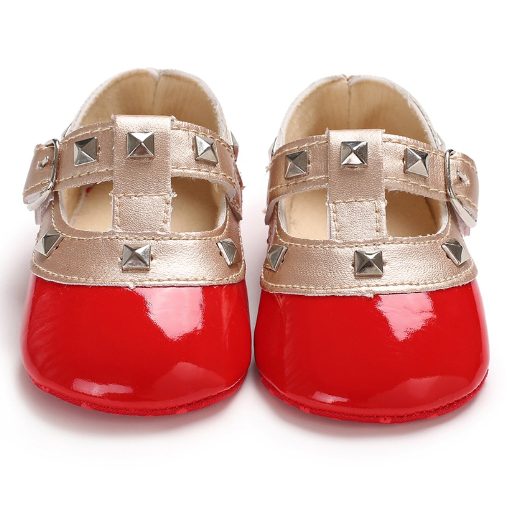 Anti-slip Newborn Baby Girl Bling Crib Pram Shoes Bow Soft Sole Cute Princess Leather Shoes Baby Girls 0-18M