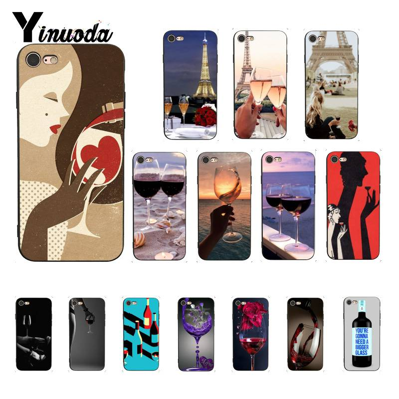 100% True Yinuoda On Wine Glass In Paris Red Bottle Wine Glass Novelty Phone Case Cover For Iphone 8 7 6 6s 6plus X Xs Max 5 5s Se Xr 10 Be Shrewd In Money Matters Cellphones & Telecommunications Half-wrapped Case