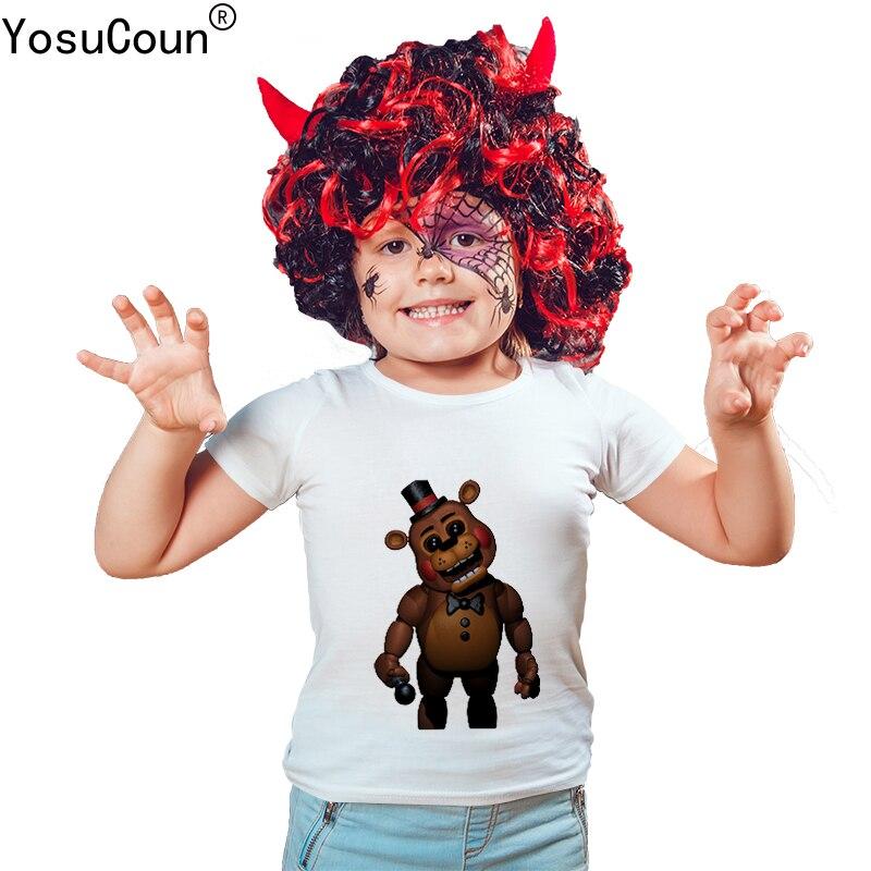 Cinq Nuits à Freddy de t-shirt Garçons T-shirts de Bande Dessinée Bébé Garçon T-shirt pour Enfants Tops t-shirt Pour Bébé Garçon Enfant Garçons Chemises T100X