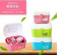 Candy color home medicine kit first aid kit medicine box family double portable medicine storage box medical box