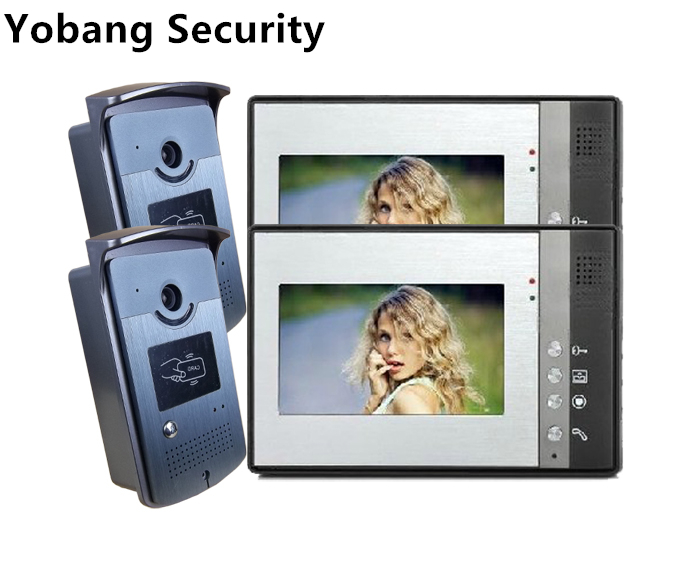 Yobang Security freeship 7 Inch video intercom two way doorbell  Intercom System IR Camera doorphone home automation door bell yobang security video doorphone camera outdoor doorphone camera lcd monitor video door phone door intercom system doorbell