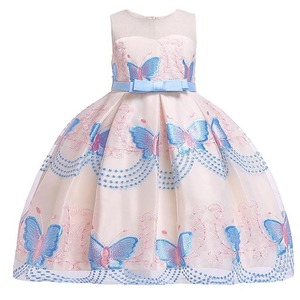 Image 3 - Butterfly embroidery flower girl princess party dresses for weddings kids girl clothes children clothing baby costume L5088