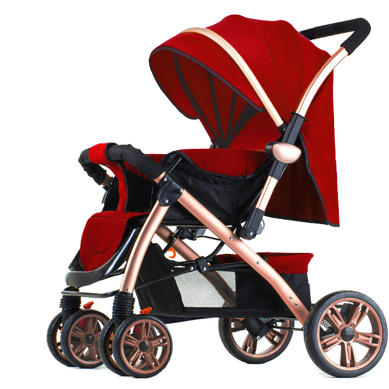 New high landscape baby stroller shockproof four wheel folding two-way baby cart portable lying baby carriage children activity high landscape suspension stroller four wheel two way light folding sit lie baby cart