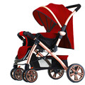 Newly launched high landscape baby stroller shockproof four wheel folding easy baby cart