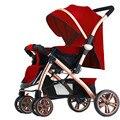 Recém lançado alta paisagem carrinho de bebê à prova de choque de quatro rodas dobrável carrinho de bebê fácil