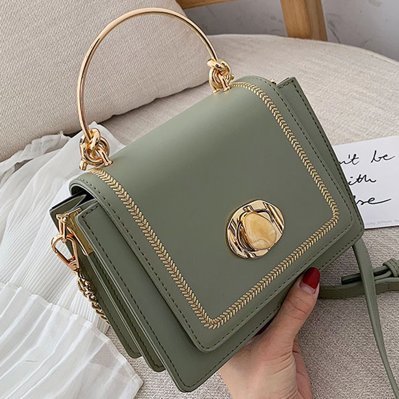Solid color Leather Mini Crossbody Bags For Women 2019 Summer Messenger Shoulder Bag Female Travel Phone Purses and Handbags-in Shoulder Bags from Luggage & Bags