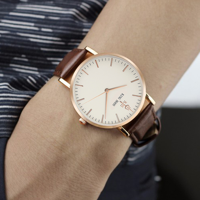 Analog Casual Elegant Leather Strap Watch 3