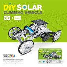 Детские игрушки для мальчиков и девочек, набор «сделай сам», робот-машинка для детей, набор для сборки автомобиля на солнечной энергии, четырехколесный привод, сделай сам, подъемное транспортное средство, обучающее