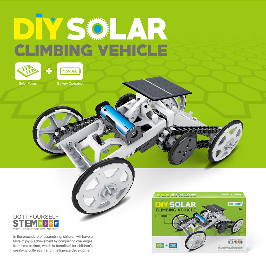 Kids Toys For Boys Girls Kit Diy Robot Car For Kids Solar Power Car Assembly Kit Four-Wheel Drive DIY Climb Vehicle Educational