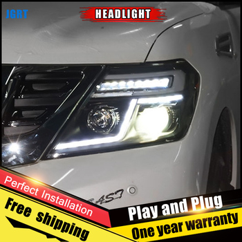 Car Style LED headlights for Nissan Armada 2012-2017 for patrol head lamp LED DRL Lens Double Beam H7 HID Xenon bi xenon lens