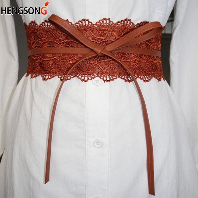 Elastic Lace Black Belts For Women Dress Belt Luxury Brand Designer Belts For Costumes Jeans Belt Female Wedding Dress Waistband