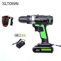 XLTOWN 25V electric screwdriver rechargeable lithium battery electric screwdriver home cordless drill home power tools