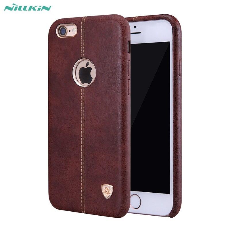 imágenes para Nillkin cubierta de cuero retro de lujo de negocios de adsorción magnética incorporada para apple iphone 6 6 s plus 7 más protectora shell