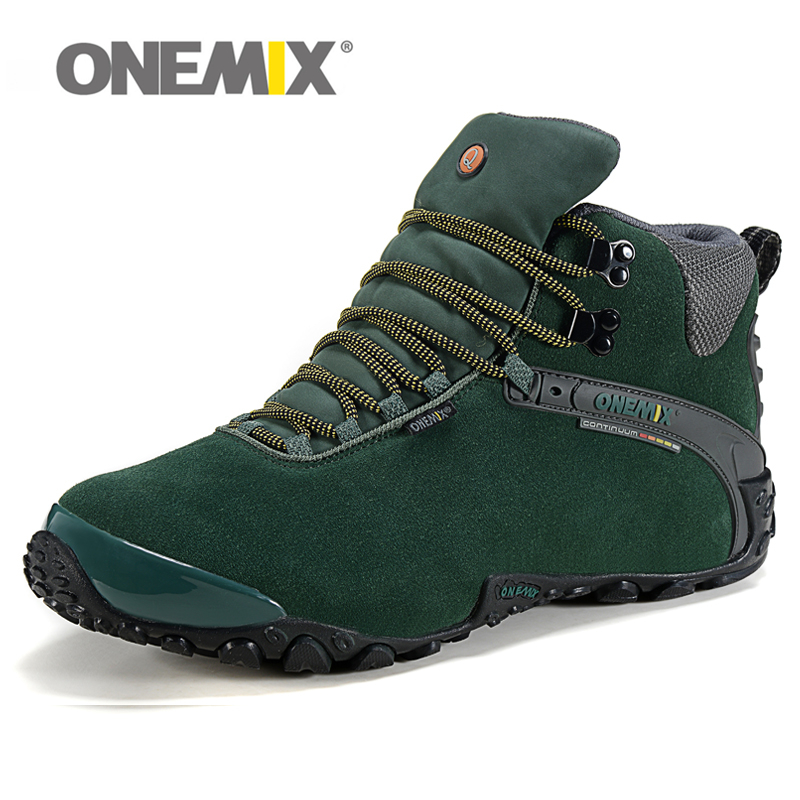 Winter Men's outdoor Leather Hiking Shoes Women Trekking Boots Warm Resistant Breathable Sport Shoes Mountain Climbing Sneakers gomnear winter men s hiking boots outdoor climbing toutism hunting athletic boot trend trekking warm velvet sport shoes for male