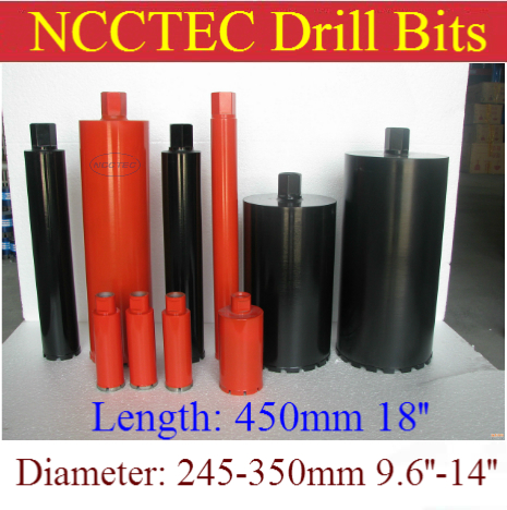 245-450mm * 450mm crown diamond drilling bits | 9.6''- 18'' * 18'' concrete wall wet core bits | Professional engineering drill 66mm 450mm ncctec crown diamond drilling bits 2 64 concrete wall wet core bits professional engineering core drill