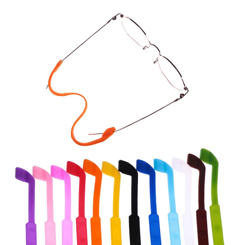 1/2 pçs ajustável silicone óculos cinta óculos práticos óculos de sol faixa cabo titular óculos de sol cinta crianças olho acessórios