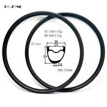 Go-zone 650B MTB диск колеса углерода Отделка Асимметричная XC/AM 30x24 мм бескамерные 27,5 er горный велосипед обод bicicleta aro 27,5
