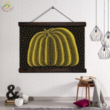 Yellow Pumpkin Yayoi Kusam Art Modern Wall Print Pop Posters and Prints Scroll Canvas Painting Pictures
