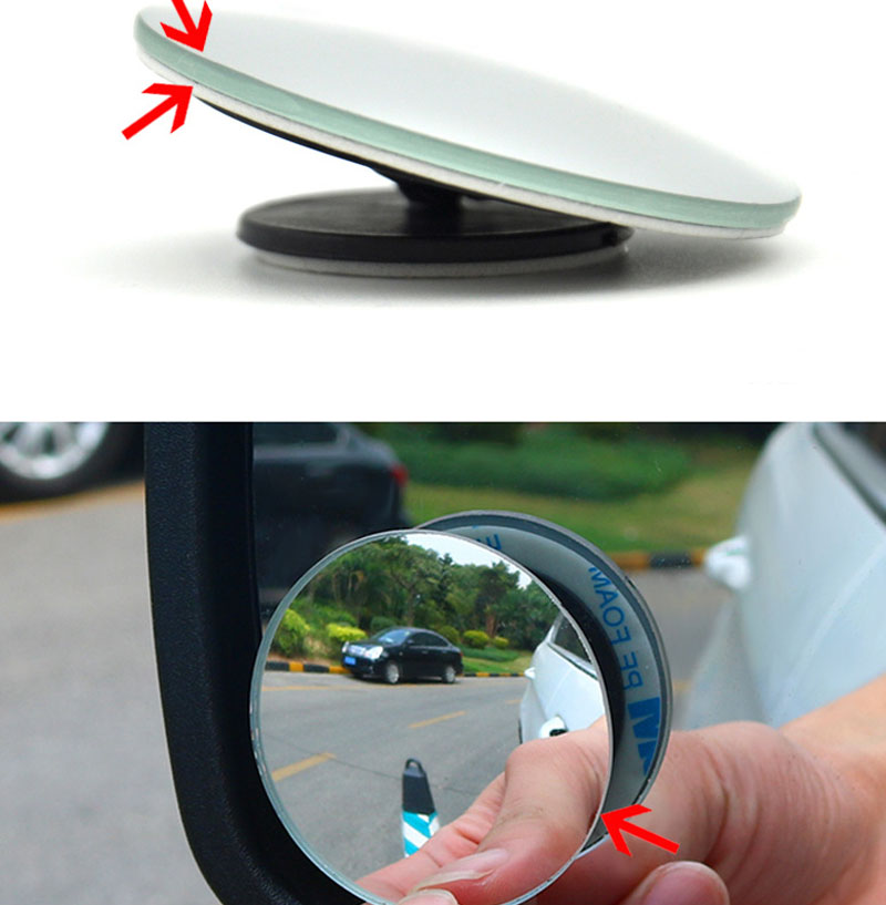 US $1 86 21% OFF 360 degree frameless ultra thin wide angle circular convex  blind spot mirror for Suzuki SX4 SWIFT Alto Liane Grand Vitara Jimny -in