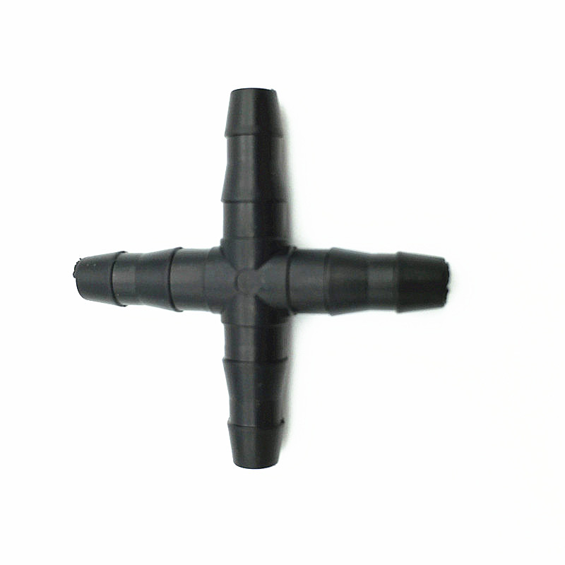4//7mm Connector Water Hose Fitting Barbed Cross Bulk Automatic Hot Practical