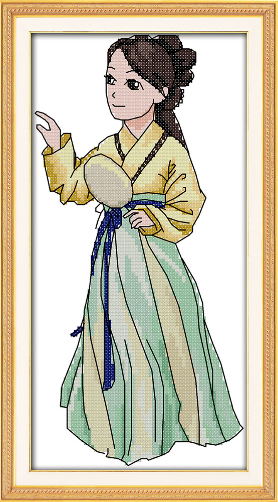 The Hanfu beauty (2), counted printed on fabric DMC 14CT 11CT Cross Stitch kits,embroidery needlework Sets Home Decor