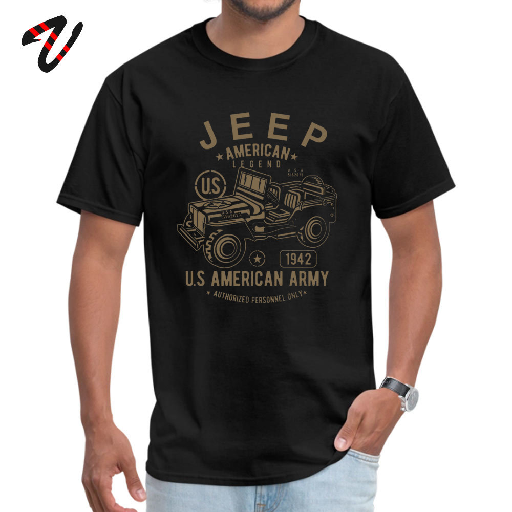 JEEP Legend <font><b>Army</b></font> American Tees Slim Fit Round Collar Casual Gothic Short Sleeve Riverdale <font><b>Men</b></font> T Shirts Summer <font><b>Tshirts</b></font> image