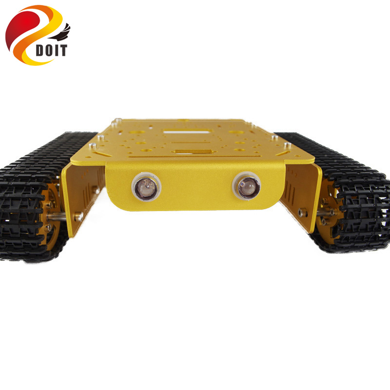 T200 Metal Tank Chassis with Bearing Track Caterpillar Car Chassis Frame Metal Platform Crawler Pedrail DIY RC Toy DOIT офисное кресло college h 966l 2 black