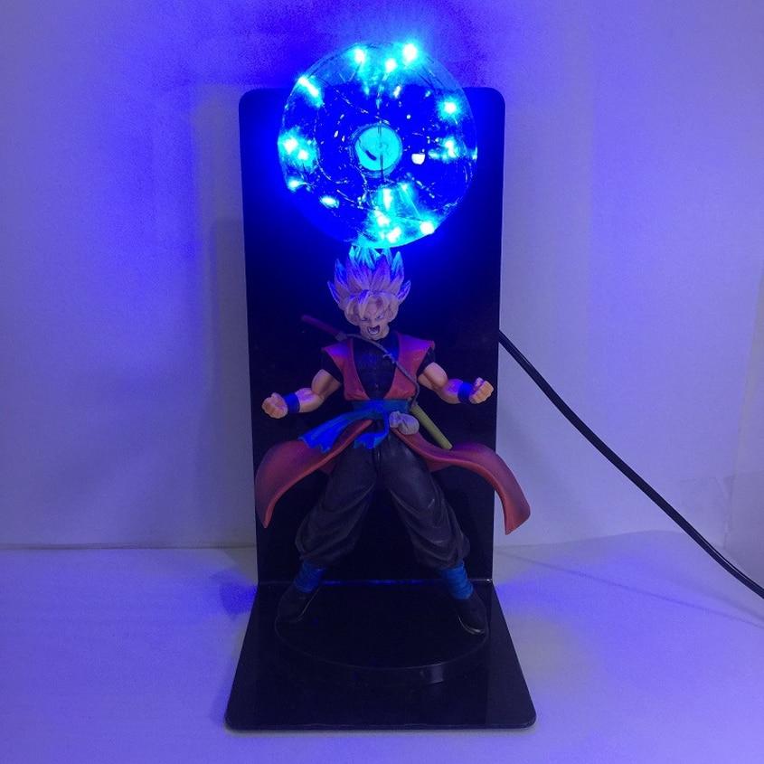 Dragon Ball Z Goku Figura de Ação PVC Coleção Modelo Criativo Lâmpada de Mesa Lâmpada de Mesa Levou Brinquedos para Presente de Natal