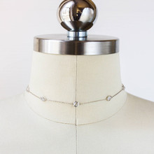ONATALL modern women's accessories 2018 new fashion simple acrylic drill short collar bone necklace necklac