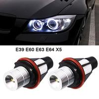 2pcs DC 12V 1000LM Angel Eyes Car LED Halo Ring Marker Bulbs Light 5W 6000K